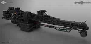 ArtStation - Mech assault rifle , Anthony Klepczarek ...
