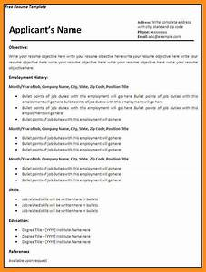 fillable resume template 40 blank templates free samples With fillable resume templates microsoft
