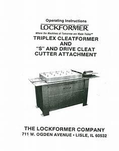 Lockformer Machinery Parts Diagrams  Triplex Cleatformer