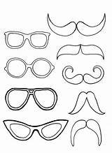 Coloring Mustache Eyeglasses Pair Glasses Colouring Sun Sheets Mermaid Dog Kidsplaycolor Adults Horse sketch template