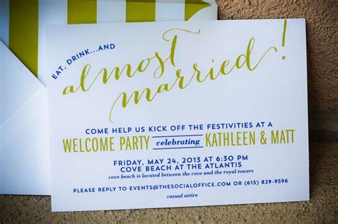 bahamas wedding  party invitations  custom  nico