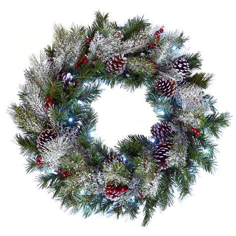 light up wreath 24 quot 61cm door decoration