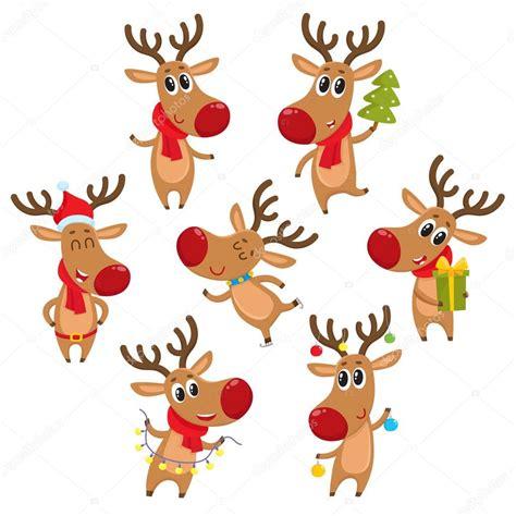 Rentier Deko Weihnachten by Rudolf Rentier Mit Weihnachtsbaum Geschenke Girlande