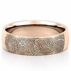 Fingerprint wedding band men39s fingerprint on outside of for Mens wedding ring bands