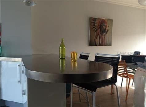 table de cuisine sur mesure cuisine inox sur mesure évier mobilier table crédence