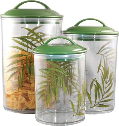 Corelle Coordinates Acrylic Canister Bamboo Leaf Set Of 3