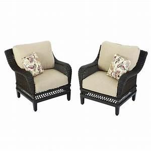 Hampton bay woodbury wicker outdoor patio lounge chair for Home depot hampton bay wicker furniture