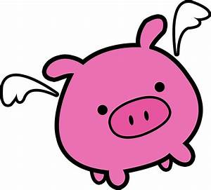 """""""Cute Pink Flying Pig"""" Stickers by PigsWithWings Redbubble"""