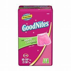 Goodnites Underpants Girls Sleep Boxers, Large/Extra Large ...