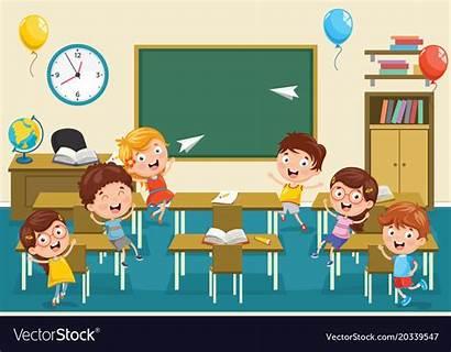 Classroom Vector Royalty