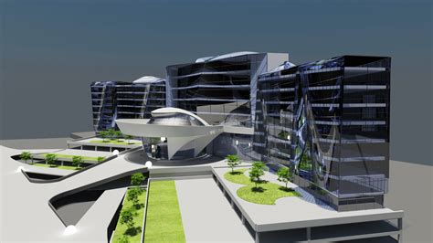 Architectural Design Of Business Hotel, Spain, Est