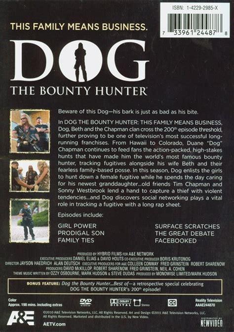 dog  bounty hunter  family means business dvd