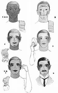 1905 Diagrams Showing How To Apply Straight Make