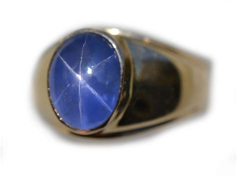 AGL Certified Unheated Electric Mens Blue Star Sapphire