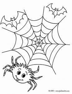 Dessin D Halloween Facile : coloriage d 39 halloween toile araign e a colorier ~ Dallasstarsshop.com Idées de Décoration