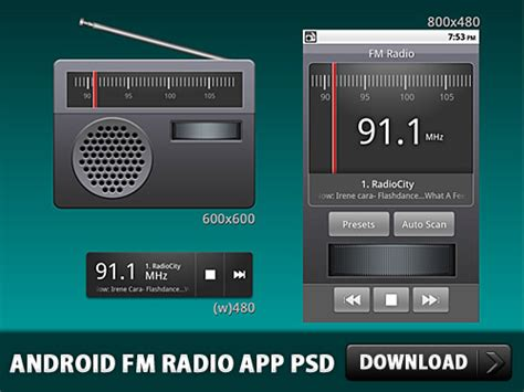 Android Fm Radio Application Psd Download  Download Psd
