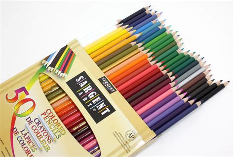 Coloring With Colored Pencils by Sargent 22 7251 50 Count Assorted Colored Pencils
