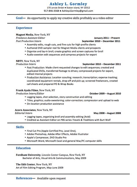 l gormley editor traditonal resume