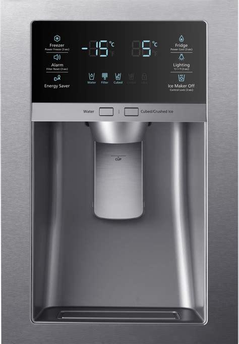rfhmedbsr samsung stainless steel  french door refrigerator wled