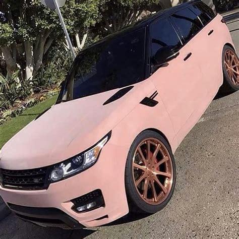 range rover rose pink velvet range rover with rose gold wheels things i