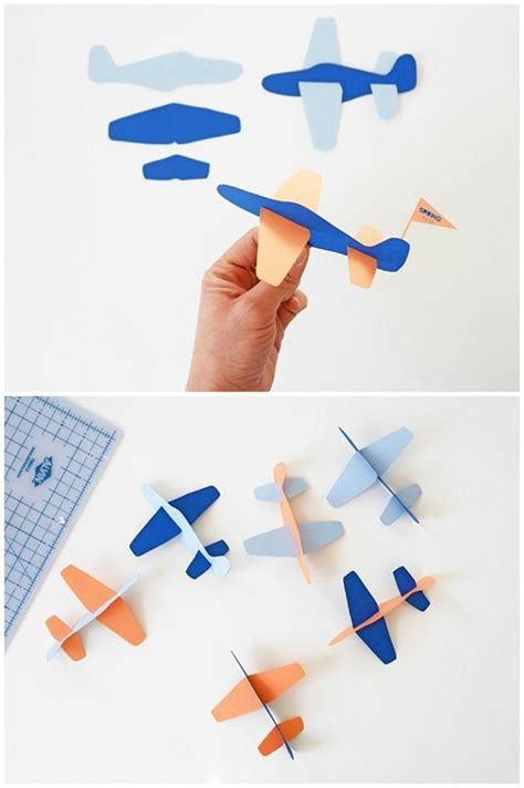 diy paper plane toy with free template contributed by la maison de loulou kid arts