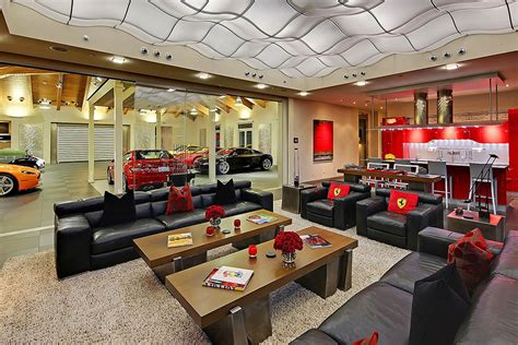 Home Garage by A Home With A 16 Car Garage