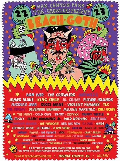 Goth Beach Lineup Pharcyde Growlers Festival Park