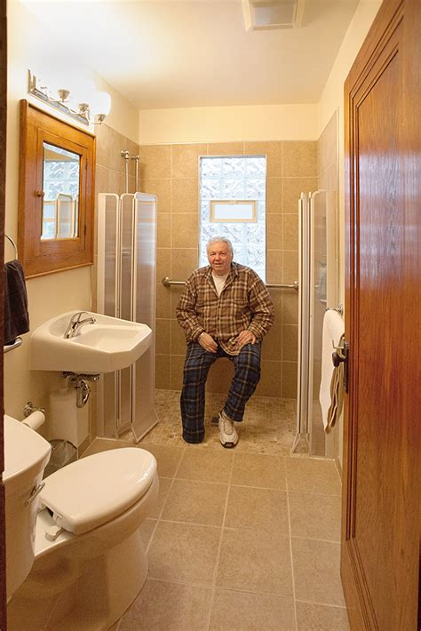 ada shower niche height tiny accessible bathroom remodel smart accessible living