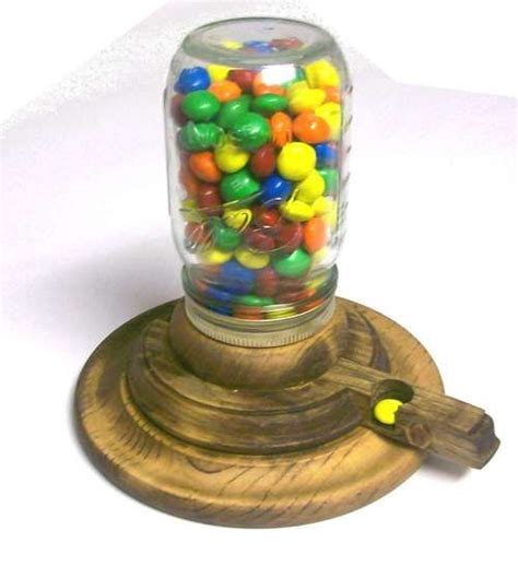 childs wooden coin operated gumball machine gumball