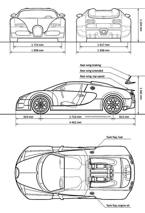 Bugatti Veyron Blueprint by Bugatti Veyron Blueprint Car Blueprints For 3d Bugatti