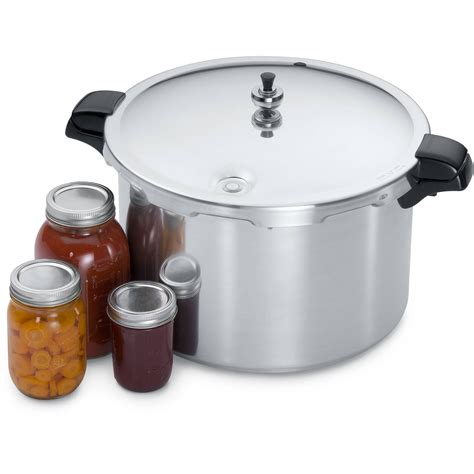 pressure canner presto cooker quart aluminum walmart amazon qt cookers button opens