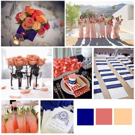 coral color decorations for wedding royal blue and coral weddingbee
