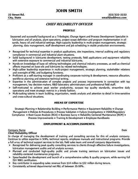 Chief Resume Exles by How To Write A Resume For Chief Of 28 Images