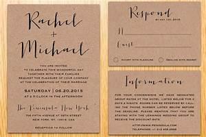 digital printable kraft paper wedding invitation suite With diy wedding invitations brown paper