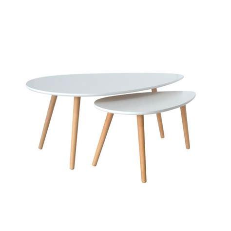 Table Gigogne Scandinave Table Basse Gigogne Scandinave Blanc Achat Vente Table Basse Table Basse Gigogne