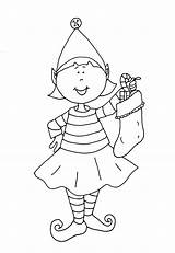 Coloring Elf Shelf Pages Printable Christmas Popular sketch template