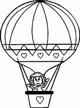 Balloon Coloring Air Printable Sheets Getcolorings Unbelievable Blac Getdrawings Template Colorings sketch template