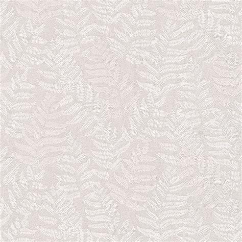 Cream Fern Leaves Glitter Highlight Wallpaper