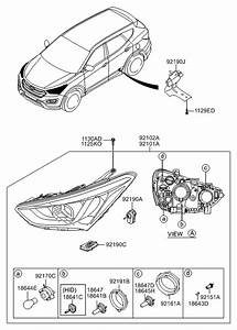 2015 Hyundai Santa Fe Engine Diagram : 92102 4z010 genuine hyundai lamp assembly head rh ~ A.2002-acura-tl-radio.info Haus und Dekorationen