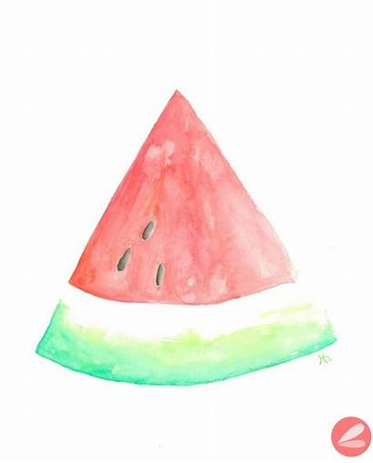 Watermelon Watercolor Printable Slice Summer Clipart Printables