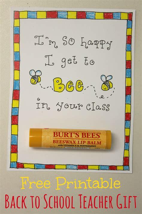 school teacher gift  printable happy home