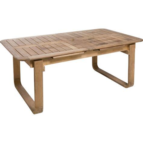 fabriquer une table haute de cuisine table de jardin naterial resort rectangulaire naturel 6 8