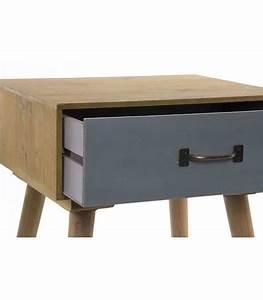 Set De Table Jaune : set de 2 tables de chevet bois jaune et gris ~ Teatrodelosmanantiales.com Idées de Décoration