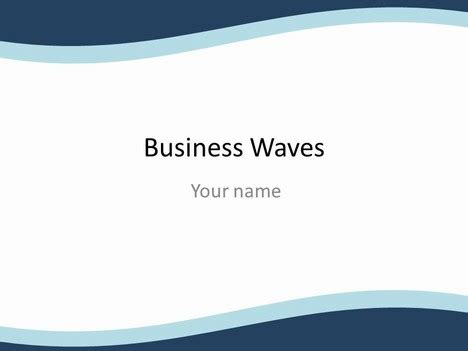 business template ppt business wave powerpoint template