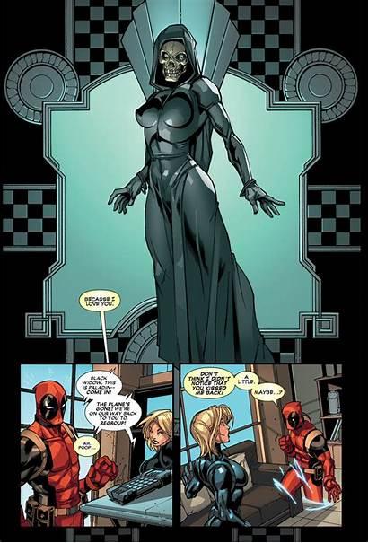 Widow Deadpool Kisses Natasha Romanoff Yelena Marvel