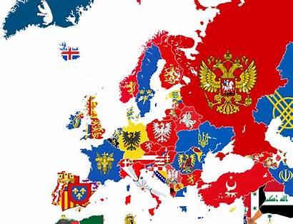 Europe Map Arms Coat Flag European Alternate