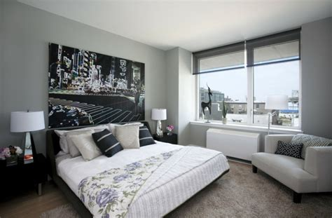 schlafzimmer grau  schlafzimmer mit deutlicher praesenz