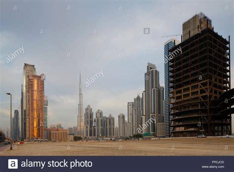 Burj Khalifa Construction Stock Photos And Burj Khalifa