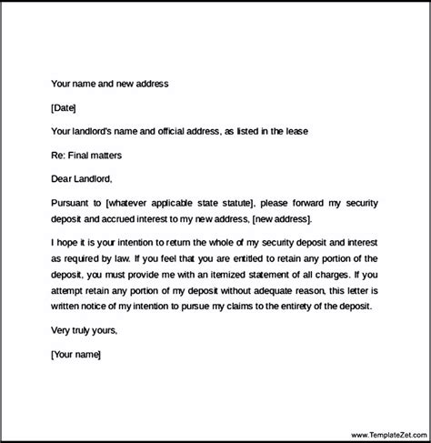 60 Day Notice Apartment Template Notice To Vacate Apartment Template Business