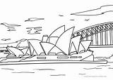 Sydney Opera Coloring Pages Printable Malvorlage Categories Places sketch template